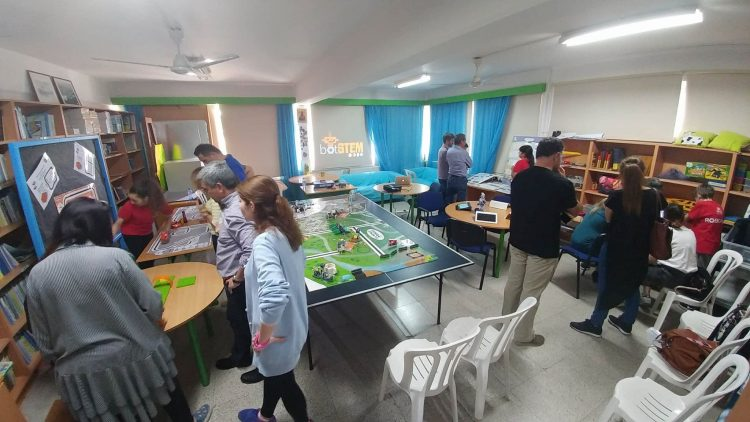 BotStem workshop at Apostolos Loukas Primary in Nicosia, Cyprus